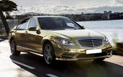 Прокат машины Mercedes-Benz S600  W221 Long ,  белого и черного цвета д